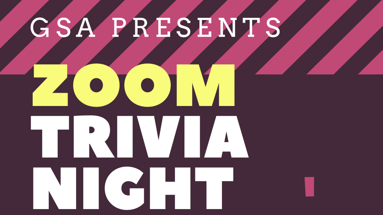 Virtual trivia night hosted through Zoom